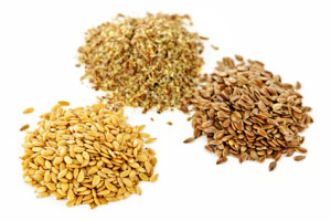 Brown, golden and ground flax seed